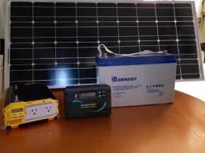 Solar panel, inverter, controller, battery
